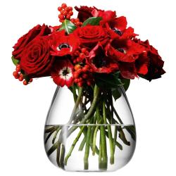 Flower Table bouquet vase, 17cm, clear