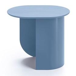 Plateau Side table, 32 x 39.5 x 44cm, pigeon blue/ash