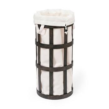 Cage Laundry basket, H63 x W31 x D31cm, dark brown/ white