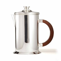 Audley Large coffee press, silver plated