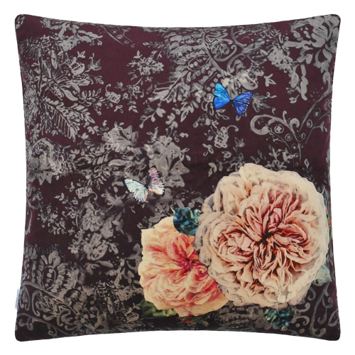 Pahari Cushion, H55 x W55cm, Rosewood