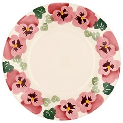 Pink pansy Plate, 22.1cm