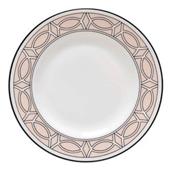 Loop Teaplate, 16.5cm, blush/white (black rim)