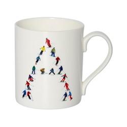 Alphabet - A Mug, H9.5 x W10.5 x D8.5cm - 35cl, multi