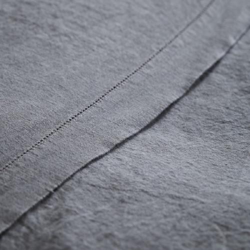 King size flat sheet, 270 x 270cm, Lens Charcoal
