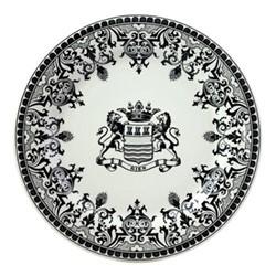 Les Depareillées - Blason Set of 6 dinner plates, 27cm, black