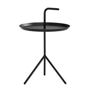 DLM Side table with handle, H58 x W38 x D38cm, black