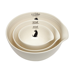 Labrador Nest of 3 stacked bowls