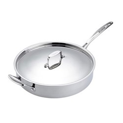 Fusion 5 Sauté pan with lid, 3.1 litre - D26cm, stainless steel