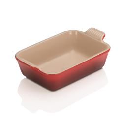Stoneware Rectangular dish, 19 x 14cm - 1 litre, Cerise