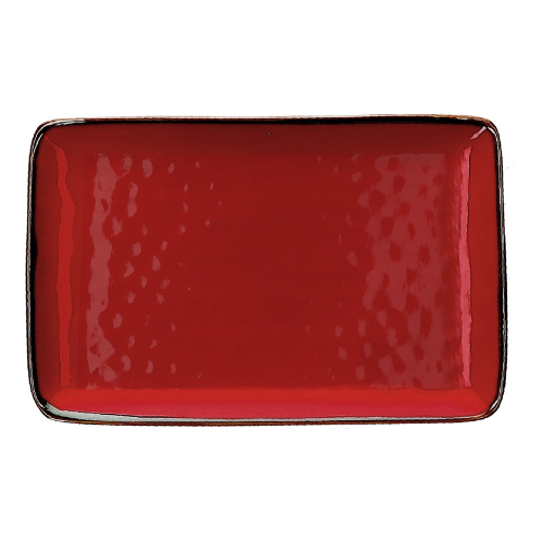 Concerto Pair of rectangular trays, L20 x W13cm, Fire Red