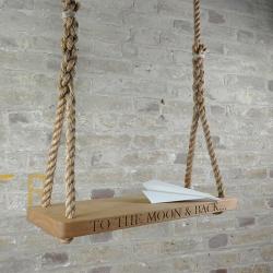 Personalised medium swing, 60 x 25 x 3.5cm, Oak
