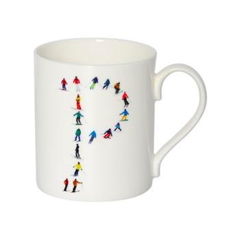 Alphabet - P Mug, H9.5 x W10.5 x D8.5cm - 35cl, muti