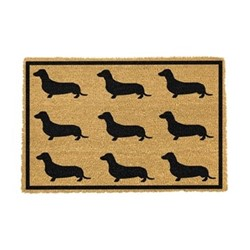 Dachshund Doormat, 60 x 40cm, natural/black