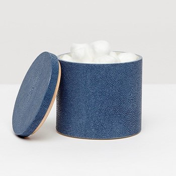 Manchester Canister, H11.5cm, navy faux shagreen