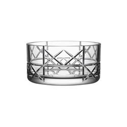 Explicit Checks bowl, H11 x W22.3cm, glass
