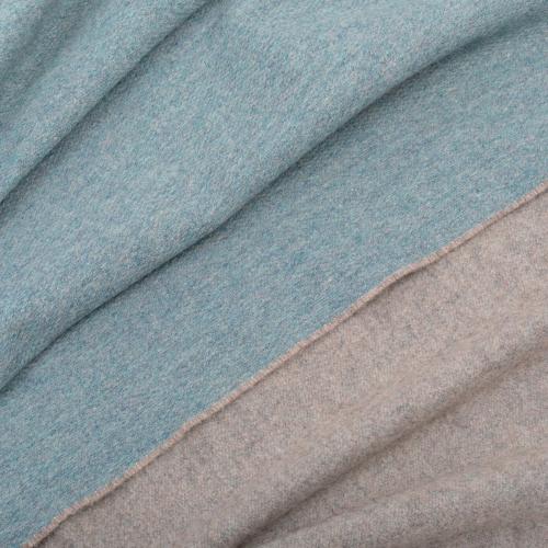 Two Tone Merino Throw, H150 x W180cm, Sea Green