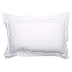Star Oxford pillowcase, 50 x 75cm, Pink 200 Thread Count Cotton