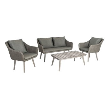 Old England Woven lounge set, grey