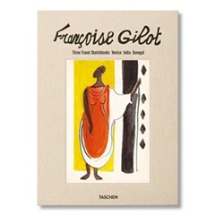 Francoise Gilot Three travel sketchbooks: venice, india, senegal, L26 x W2.6 x H36cm