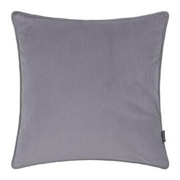 Velvet cushion, W45 x L45cm, grey