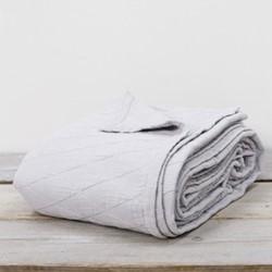 Stockholm Bedspread throw, 220 x 230cm, silver grey