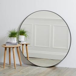 Chiltern Round mirror, Dia101cm, Black