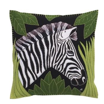 Zebra Cushion, 46 x 46cm, black