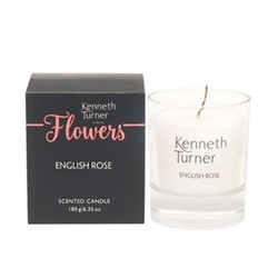 Rose Candle, white