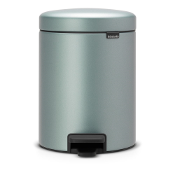newIcon Pedal bin, 5 litre, Metallic Mint