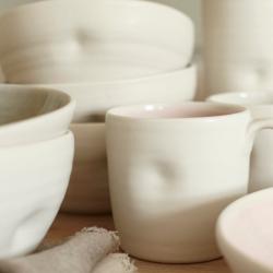 Pinch Set of 4 mugs, D8.9 x H8.9cm, Pink