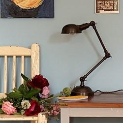 Bentham Desk light, H45 x W13cm, antiqued bronze