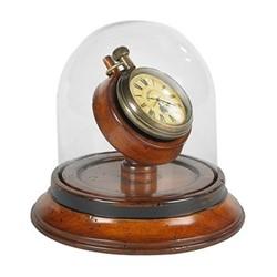 Victorian Dome watch model, H12.5 x D13.5cm, honey distressed brass