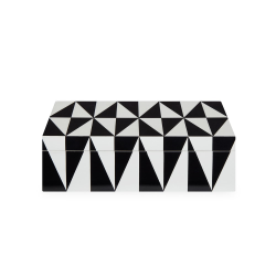 Op Art Box, medium, Black/White