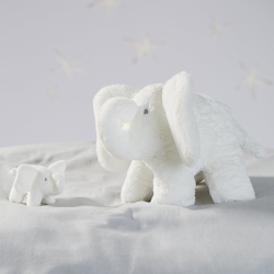 Indy Elephant Rattle, W30 x L47cm, White