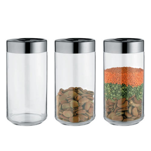 Julieta by Lluis Clotet Kitchen box, 10.5 x 21.6cm - 1.5 litre, stainless steel and glass