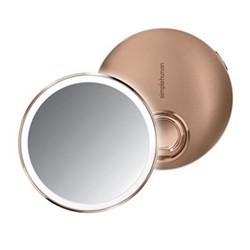 Compact sensor mirror, D10.3cm, rose gold