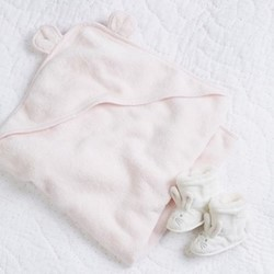 Girls bear hooded towel Small
