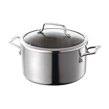 Authority Multi-Ply Clad Stockpot with lid, 5.7 litre - 24cm, stainless steel