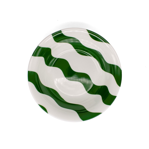 Scallop Collection Side plate, Dia 8 inches, Green