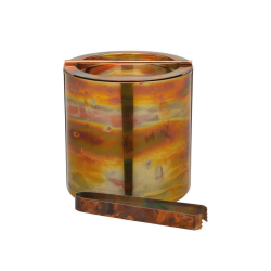 Ice bucket with lid and tongs, D15.5 x D16cm, Copper