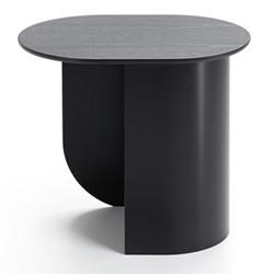 Plateau Side table, 32 x 39.5 x 44cm, black/ash