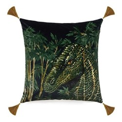 Big Iggy Velvet cushion, L45 x W45cm, bambusa midnight