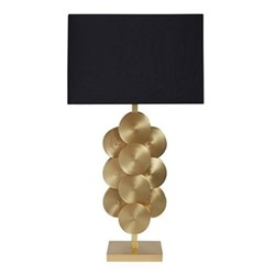 Puzzle Circles table lamp, W40.64 x D22.86 x H77.47cm, brass/black