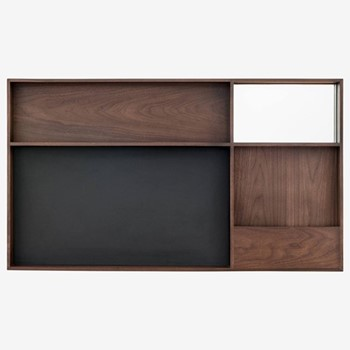 Arca By David Irwin Large wall box, W105 x L60 x D8cm, walnut