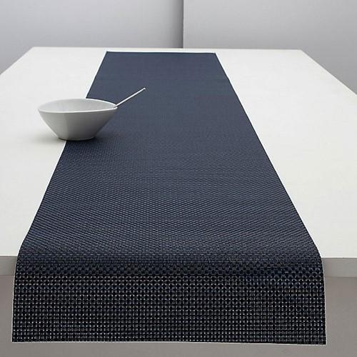 Basketweave Table runner, L183 x W36cm, Navy