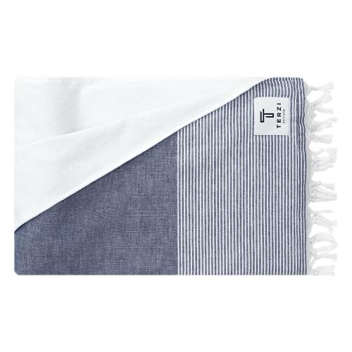 Fifty-Fifty Bath towel, 90 x 170cm, Blue