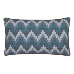 Everlasting Bloom Cushion, L50 x W30cm, blue