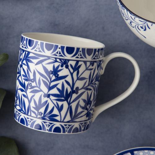 Henry Cole Mug, H9 x W9 x L13cm, Blue/White