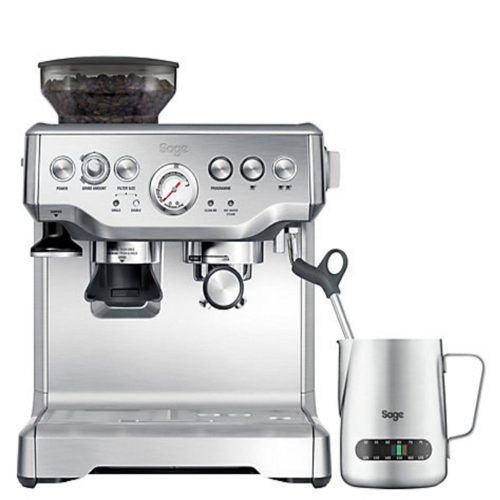The Barista Express Bean to cup coffee machine with milk jug, 2 litre, Stainless Steel